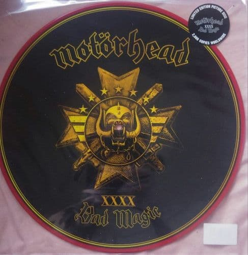 Motorhead<br>Bad Magic<br>LP, Ltd, Picture Disc, RE, Red